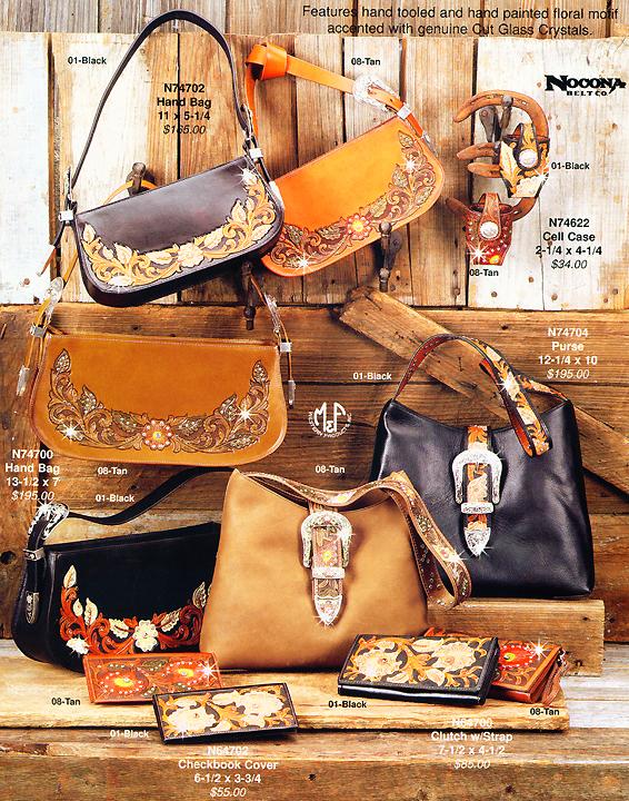 Nocona Hand Tooled Las Western Handbags