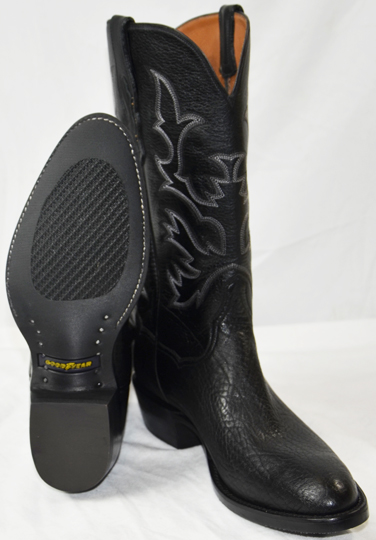 d799d85e86a Black Shoulder Handmade Custom Western Boots - Trucker Soles