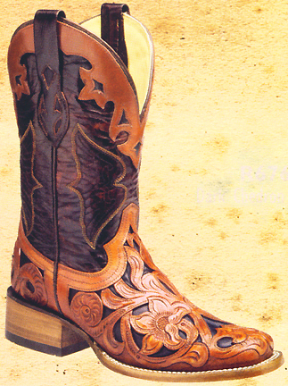 Corral Ladies Handmade Boots Ladies Handtooled Roper Boots