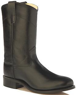 Old West Kid/'s Black Roper Boots 4110