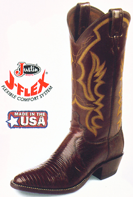 a02678b118d Justin Exotic Western Boots
