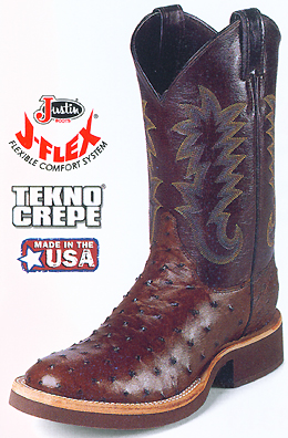 Justin Full Quill Ostrich Mens Western Boots 5031
