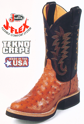 Justin Full Quill Ostrich Womens Western Boots L5014