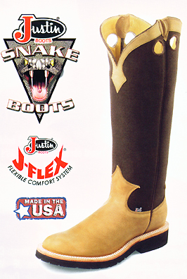 Justin Western Boots 2113 Snake Boots