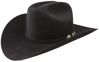 6a6b6e404a4  RES- 0010 CATTLE BARON - Black 100X Hat Cattleman Crown