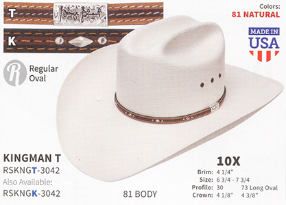 4bfa88cef52  RSKNGT-3042 KINGMAN T - Natural with Two Tone Light Brown Brown Band   RSKNGK-3042 KINGMAN K - Natural with Two Tone Brown Dark Brown Band 10x  George Strait ...