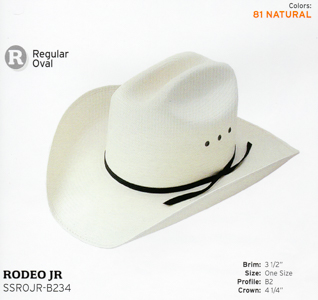 22382d61ccb10  SSROJR-B234 RODEO JR - Natural Youth Collection 4 1 4