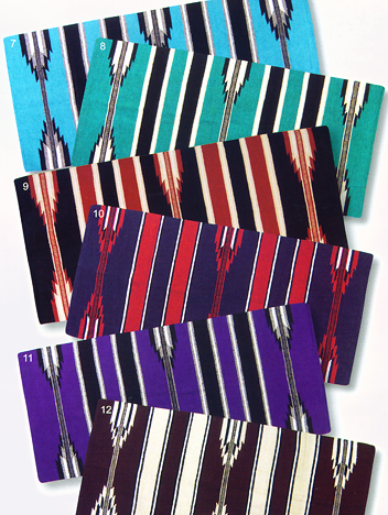 durable tightly woven and washable saddle blanket in one of our most popular designs the center chevron pattern adds balance folded or not