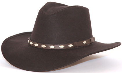 100% Cotton Oilskin Hat with a nice oval Concho band. UPF 50 rating. • 4